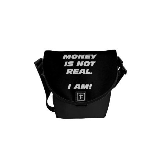 Money is not Real Mini Messenger Bag