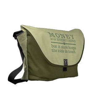 MONEY large messenger bag