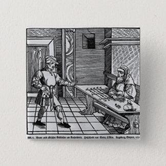 Money Lender, 1531 15 Cm Square Badge