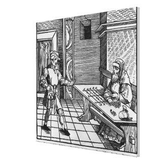 Money Lender, 1531 Canvas Print