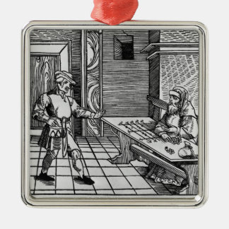 Money Lender, 1531 Christmas Ornament