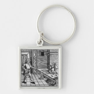 Money Lender, 1531 Silver-Colored Square Key Ring