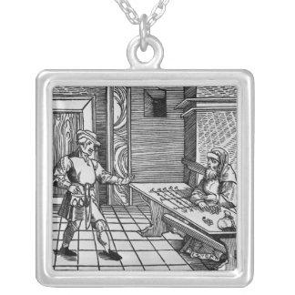 Money Lender, 1531 Square Pendant Necklace