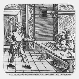 Money Lender, 1531 Square Sticker
