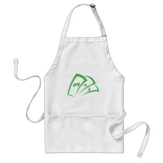 Money-lender Logo in Swish Drawing Style Adult Apron