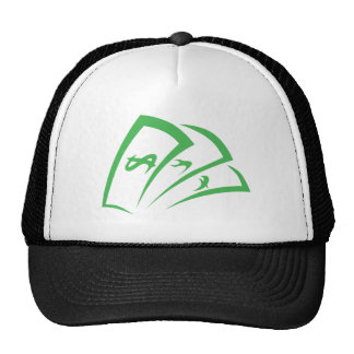 Money-lender Logo in Swish Drawing Style Mesh Hats