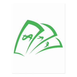 Money-lender Logo in Swish Drawing Style Postcard