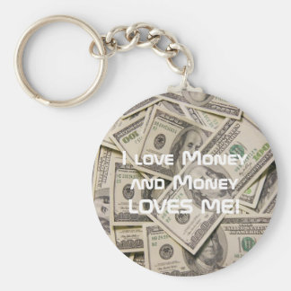 Money Loves Me Lucky Keychain