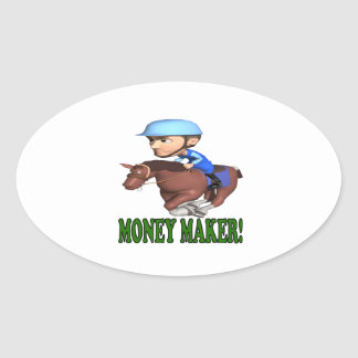 Money Maker Oval Sticker