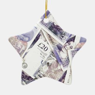Money, money, money...in a rich man's world ceramic star decoration