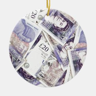 Money, money, money...in a rich man's world round ceramic decoration