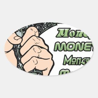 money money money oval stickers