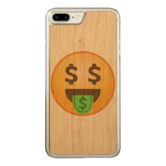 Money Mouth Emoji Carved iPhone 7 Plus Case