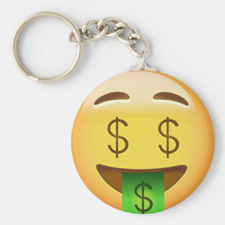Money-Mouth Face Emoji Key Ring