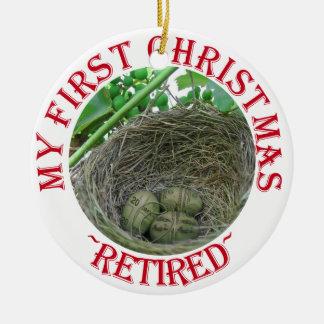 Money Nest Eggs Round Ceramic Decoration