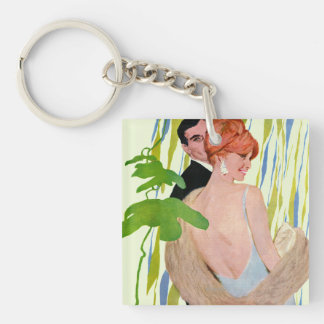 Money On Her Mind Double-Sided Square Acrylic Key Ring