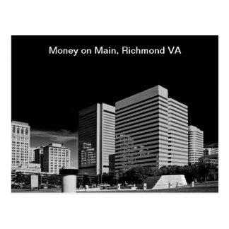 Money on Main, Richmond Virginia Postcard