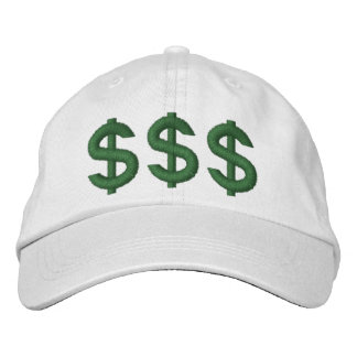 $$$ Money on My Mind Dollar Signs Embroidered Hat