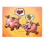 Money or Love? Post Card