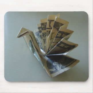 Money Origami Turkey Side Mouse Mat