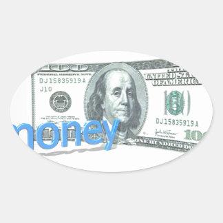 Money Oval Sticker