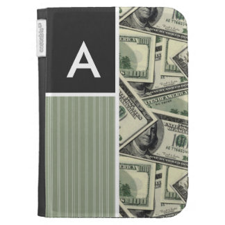Money Pattern Green Kindle Cases