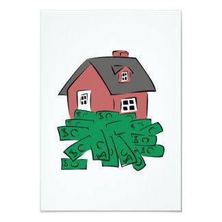 Money Pit House 9 Cm X 13 Cm Invitation Card