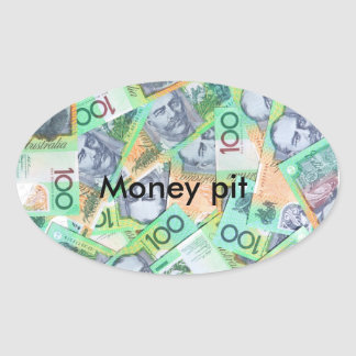 Money pit oval sticker