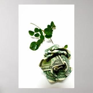 Money Rose Poster