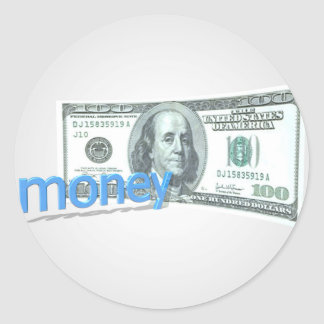 Money Round Sticker
