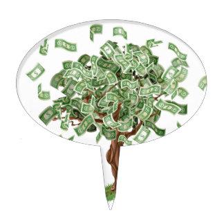 Money savings tree cake topper