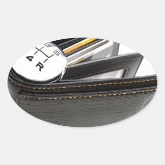 Money spending speed oval sticker