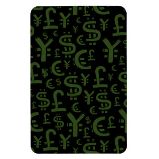 Money Symbols Finace Financial Pattern Magnet
