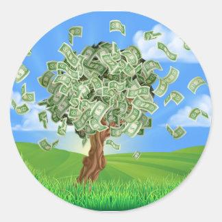 Money Tree Concept Round Sticker