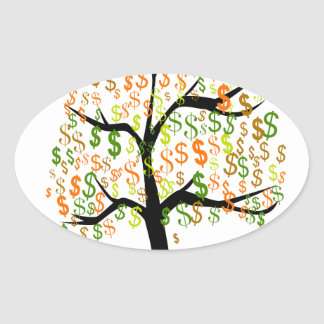 Money Tree Oval Sticker