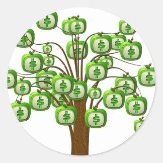 money tree round sticker