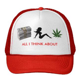 money, trucker girl, 1250694960-weed, ALL I THI... Cap