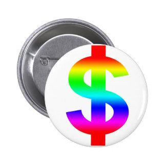Money US-Dollar Cute Silhouette Anime 6 Cm Round Badge