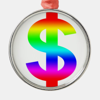 Money US-Dollar Cute Silhouette Anime Christmas Ornament