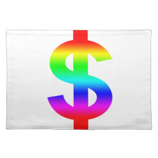 Money US-Dollar Cute Silhouette Anime Placemat