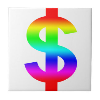 Money US-Dollar Cute Silhouette Anime Small Square Tile