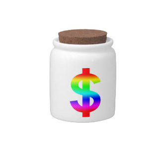 Money US-Dollar Cute Silhouette Anime Candy Jar