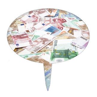 Money & wealth cake picks