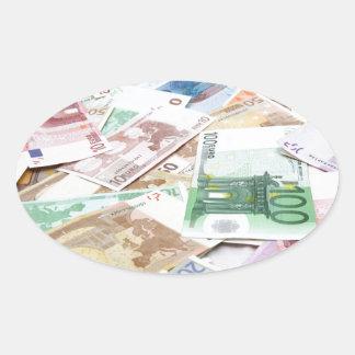 Money & wealth oval sticker