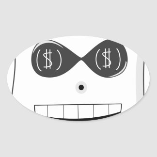 Moneyghost Oval Stickers