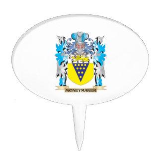 Moneymaker Coat of Arms - Family Crest Cake Pick