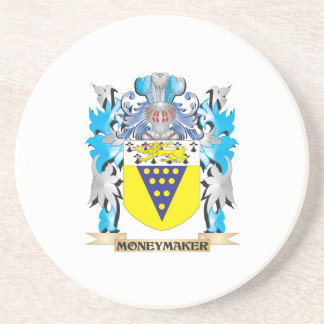 Moneymaker Coat of Arms - Family Crest Drink Coasters