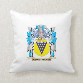 Moneymaker Coat of Arms - Family Crest Pillows