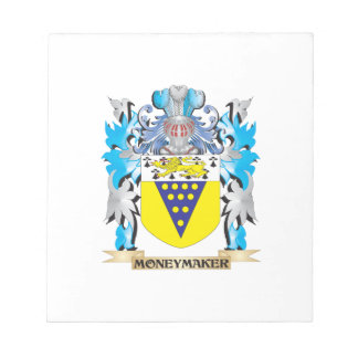 Moneymaker Coat of Arms - Family Crest Memo Pads