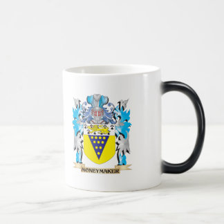 Moneymaker Coat of Arms - Family Crest 11 Oz Magic Heat Color-Changing Coffee Mug
